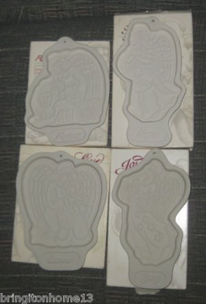 4 LONGABERGER POTTERY MOLDS PEACE HOPE LOVE JOY 93-96