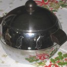 WEST BEND PENGUIN HOT/COLD ICE BUCKET SERVER CHROME BAKELITE DECO 1950s VINTAGE