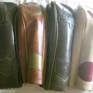 VINTAGE LEATHER GOLF CLUB HEADCOVERS  1, 3, 4, 5 HEADCOVER BROWN WHITE/RED