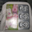 WILTON EASTER BUNNY RABBIT TREAT PAN CUPCAKES BROWNIES RICE CEREAL  JIGGLERS '98
