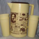 MONTGOMERY WARD CATALOG ADVERTISING PITCHER WITH 4 CUPS TEA WATER VINTAGE UNUSED