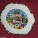 "VINTAGE London Souvenir Porcelain Plate MARKED FOREIGN 8 1/4"" with HANGER"