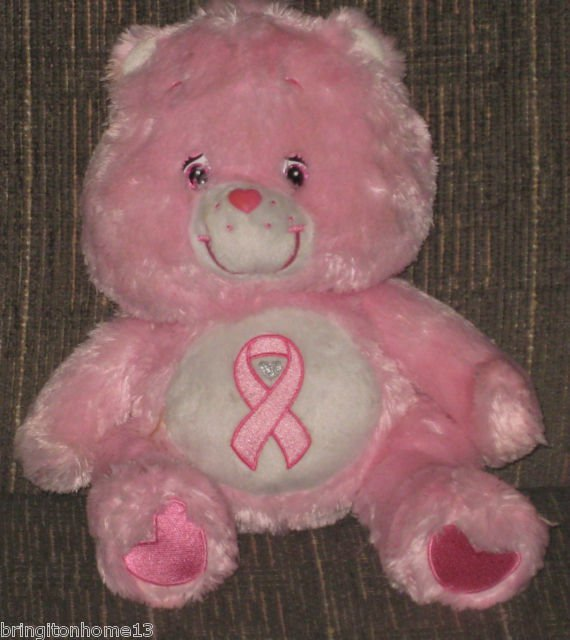 care bears pink power bear limited edition rare breast