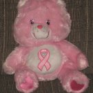 "Care Bears Pink Power Bear Limited Edition Rare Breast Cancer Bear 13"" Rare VHTF"