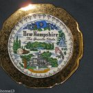 VINTAGE NEW HAMPSHIRE  STATE SOUVENIR COLLECTOR PLATE CREST O GOLD 22K WARRANTED
