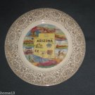 ARIZONA SOUVENIR STATE PLATE VIEWS OF AMERICA ENCO 22K GOLD VINTAGE 9 1/4""