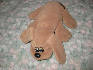 1985 TONKA POUND PUPPIES PUPPY HOUND BROWN DOG VINTAGE DROOPY CROSS EYES 8 INCH