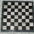 VINTAGE ELEGANT SOLID MARBLE CHECKER CHESS BOARD 15 INCHES 1970'S 17 POUNDS