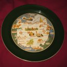 """VINTAGE OHIO STATE SOUVENIR COLLECTOR PLATE TAYLOR SMITH TAYLOR 9 1/4"""""""