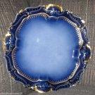 LIMOGES A. LANTERNIER FRANCE COBALT BLUE GOLD GILT PLATE HANDPAINTED 1891-1914