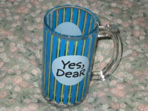 YES, DEAR I'M A DRINKER NOT A FIGHTER GLASS BEER MUG CUP FUNNY HUSBAND GIFT 16OZ