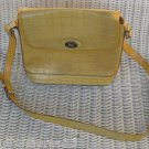 DOONEY & BOURKE YELLOW MATTE TAN CROCO CROSSBODY SHOULDER HANDBAG HOBO PURSE