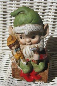 HOMCO ELF CHRISTMAS SANTA'S HELPER TOY MAKER #5406 VINTAGE MARKED
