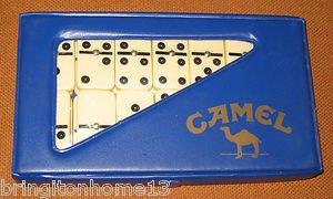 Sold Joe Camel Set of Dominoes GAME IN CARRY CASE 1989 VINTAGE CIGARETTE COLLECTIBLE