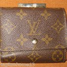 Louis Vuitton Monogram Canvas French Kiss Lock Coin Purse Wallet VINTAGE CLASSIC