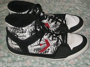 CONVERSE MEN'S SHOES SIZE 12 YOUNG & PICKLED STAGGERING ARTIST LABEL HIGH TOPS