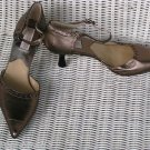 Michael Kors Heels Shoes Gold Brown Bronze Size 8 M Italy $360 Neiman Marcus tag