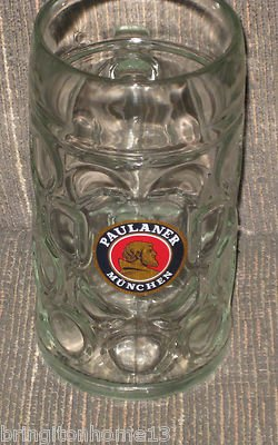 VINTAGE RASTAL PAULANER MUNCHEN OCTOBERFEST OKTOBERFEST STEIN MUG GLASS 1 LITRE