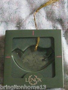 Lenox Our First Christmas Ornament 1994 Original Box Bird Bells Crystal