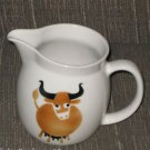 Arabia Brown Cow Milk Pitcher Jug Kaj Franck Bull Steer Heluna Finland Creamer