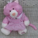 Rare Vintage Fisher Price Purple Puffalump Cat  Pink with Dress