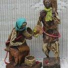 HandMade Mexican Paper Mache Peasant Statue Dolls OLD MAN WOMAN Papier Folk Art