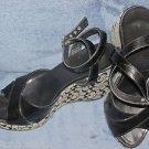 Coach CAROLYN Sandals Shoes Heels Signature C GLADIATOR STRAP Size 7 Black