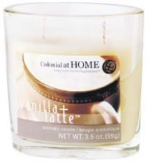 Oval Scented Glass Filled Candle 9cmH - Cinnamon