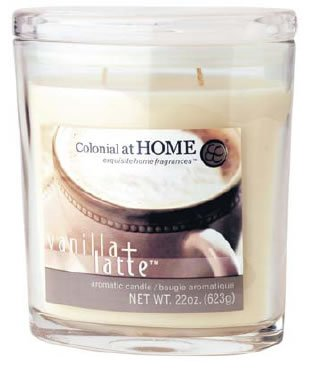 Oval Scented Glass Filled Candle 17cmH - Cinnamon