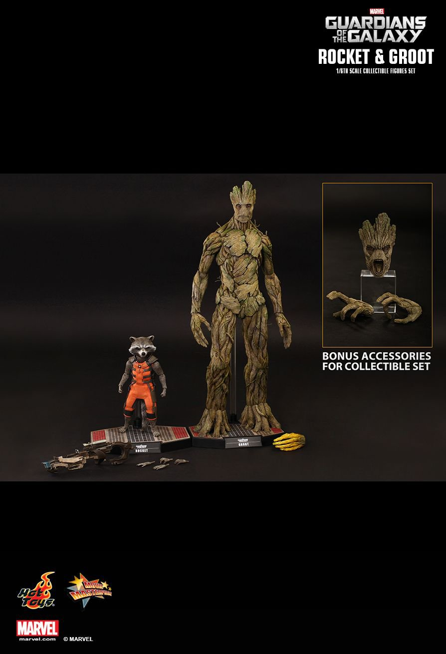 Hot Toys Guardians of the Galaxy : 1/6th scale Rocket and Groot Collectible Figure
