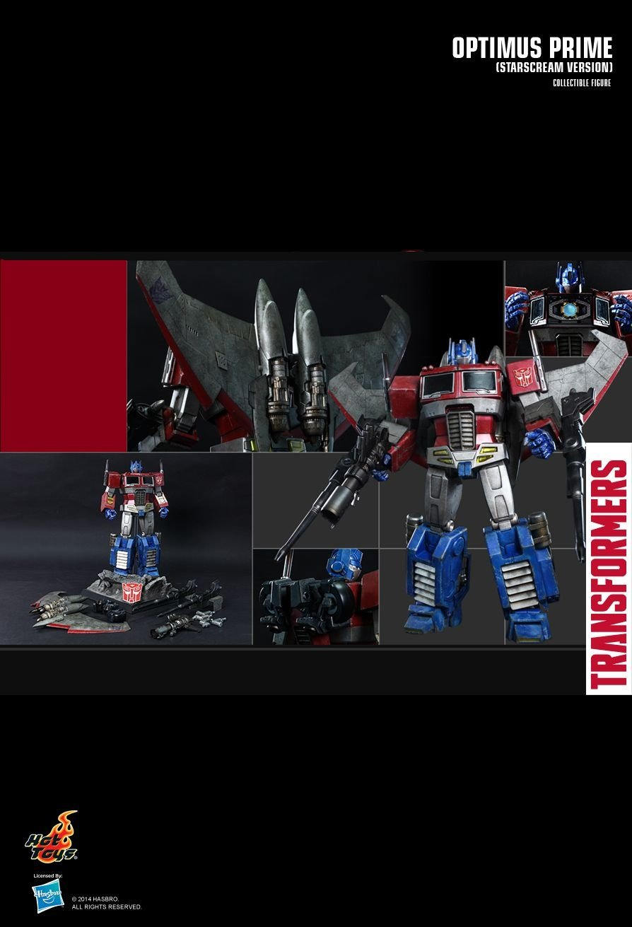 Hot Toys THE TRANSFORMERS GENERATION 1 : Optimus Prime (Starscream Version) Collectible Figure