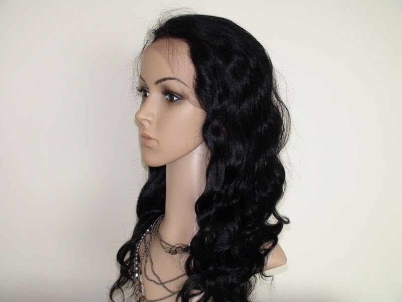 16''1# full lace wig remy indian human hair bodywave