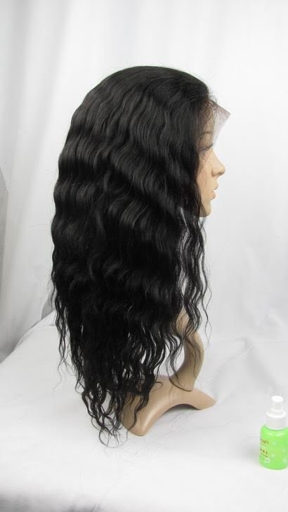 "front lace wig indian remy human hair 14"" 1b# body wave"