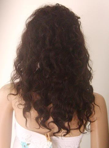 """new front lace wig remy human hair 16"""" 1b# deep wave"""