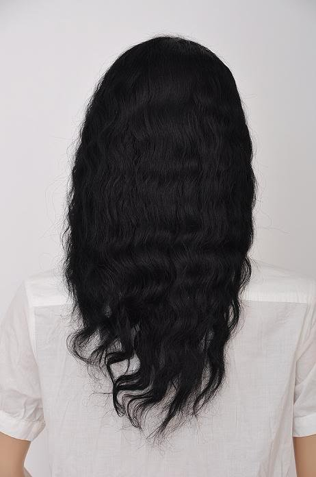 """remy indian human hair lace front  wig 14"""" 1# body wave"""