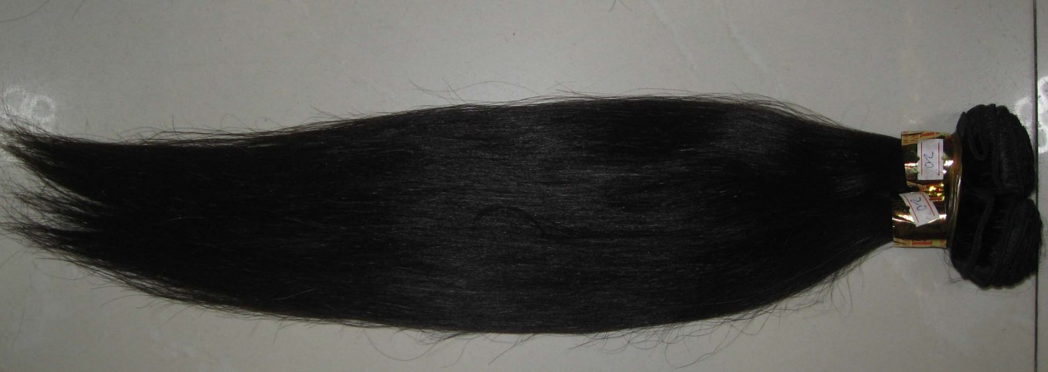 16in European hair hand tied micro thin weft straight
