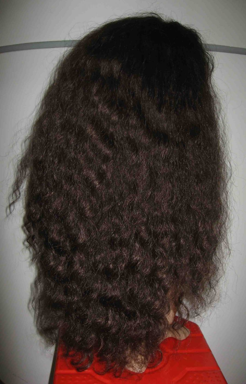 "WAVY 20"" LACE front WIG INDIAN REMY HUMAN HAIR"