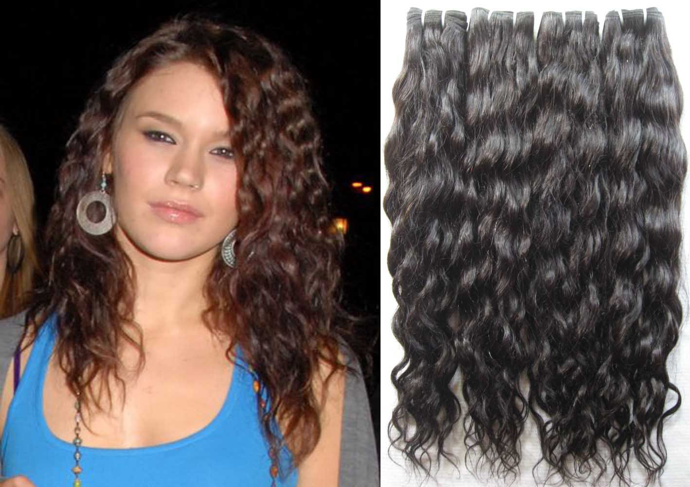 22in French curl Brizilian hair machine weft curly weave human hair extensions 8oz with nice gift