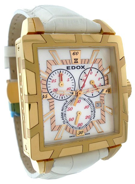 Edox Classe Royale Ladies Chronograph Watch 01924-37R