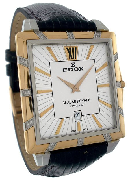 Edox Classe Royal Ultra Slim Mens Watch 27029 357RD AIR