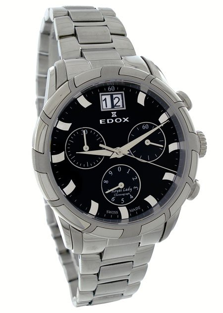 Edox Royal Lady Chronograph Watch 10019 3 NIN