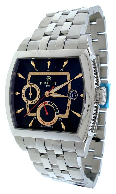 Perrelet 1777 Day Date Power Reserve Mens Watch A1021/E