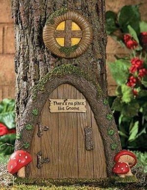 Gnome Door Tree Decor