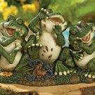 Laughing Frog Trio Garden Yard Decor