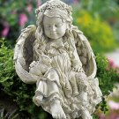 Angel & Bunny Rabbit Garden Statue
