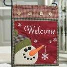 Snowman Welcome Garden Flag