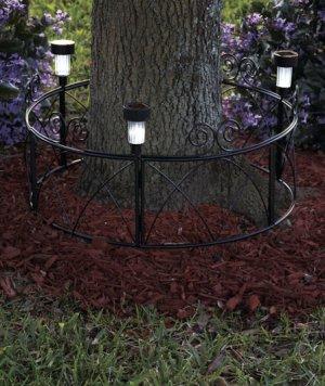 Solar Tree Ring Tree Decor
