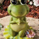 Praying Frog Garden Yard Decor