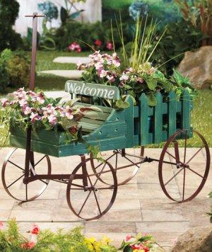 Green Welcome Wagon Planter
