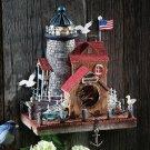 Nautical Cape Cod Lighthouse Bird House